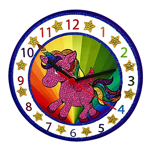 Make Your Own Clock Kit - Unicorn Gifts for Girls and Boys - Toys Unicorn Arts and Crafts for Girls and Boys - Paint by Numbers Diamond Painting Kits for - Boys Set Diamond