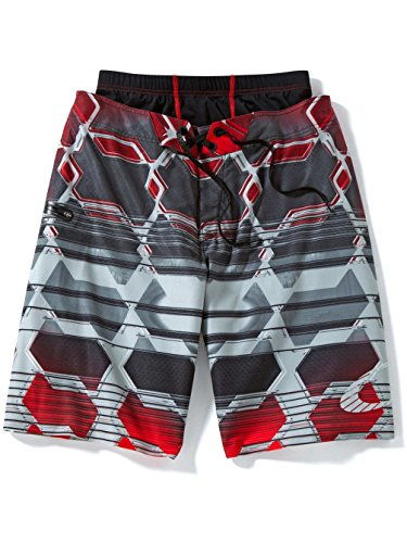 s Boardshort Surf Swimming Shorts - Red Line / Size 32 ()