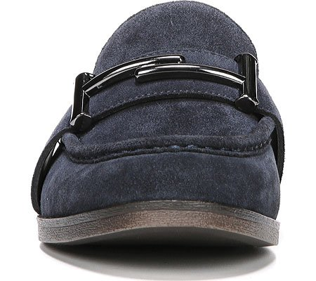 Franco Sarto Donna Baylor Slip-on Mocassino In Pelle Scamosciata Blu Navy