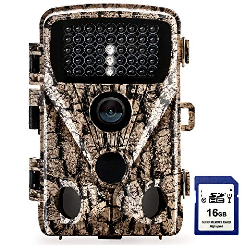 "Foxelli Trail Camera - 20MP 1080P HD Wildlife Scouting Hunting Camera with Motion Activated Night Vision, 120° Wide Angle Lens, 42 IR LEDs & 2.4"" LCD screen, IP66 Waterproof Game Camera, SD card incl."