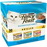 Fancy Feast Grill Seafood Feast Variety Wet Cat Food 30-3 oz. Cans For Sale