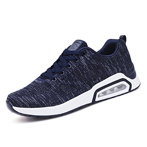 H-Mastery Mens Trainers Casual Sports Running Jogging Shoes Lightweight Breathable Sneakers Navy Blue VEARqrv1Ma