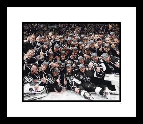 2012 Los Angeles Kings NHL Framed 8x10 Photograph Stanley Cup Champions Team Celebration