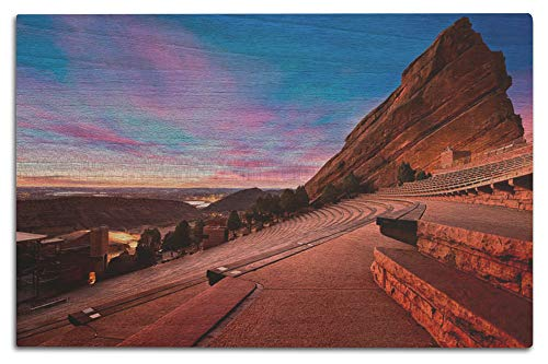 Lantern Press Denver, Colorado - Red Rocks Park - Photography A-93473 (12x18 Wood Wall Sign, Wall Decor Ready to Hang)