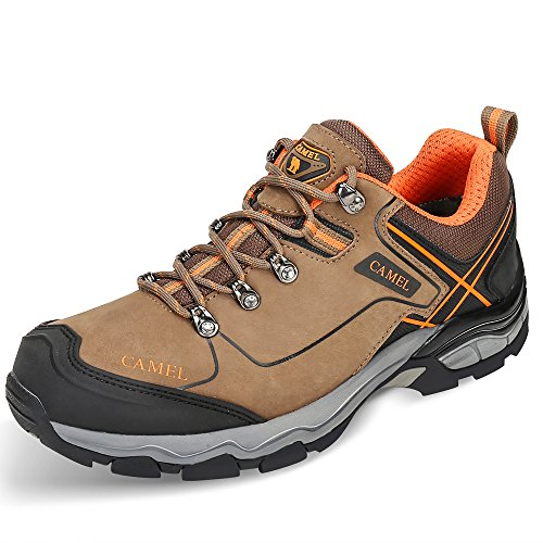 Scarpe Da Trekking Leggere Cammello Per Uomo Antiurto Antiscivolo Outdoor Traspirante Scarpe Da Trekking In Pelle Neve Bassa Kaki