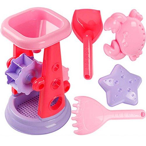 Kid's Beach Sand Toys Baths Pools Set 5PCS by Blancho Bedding