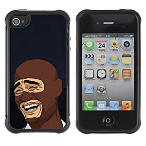 Hybrid Anti-Shock Defend Case for Apple iPhone 5c LOL MEME Laughing Face