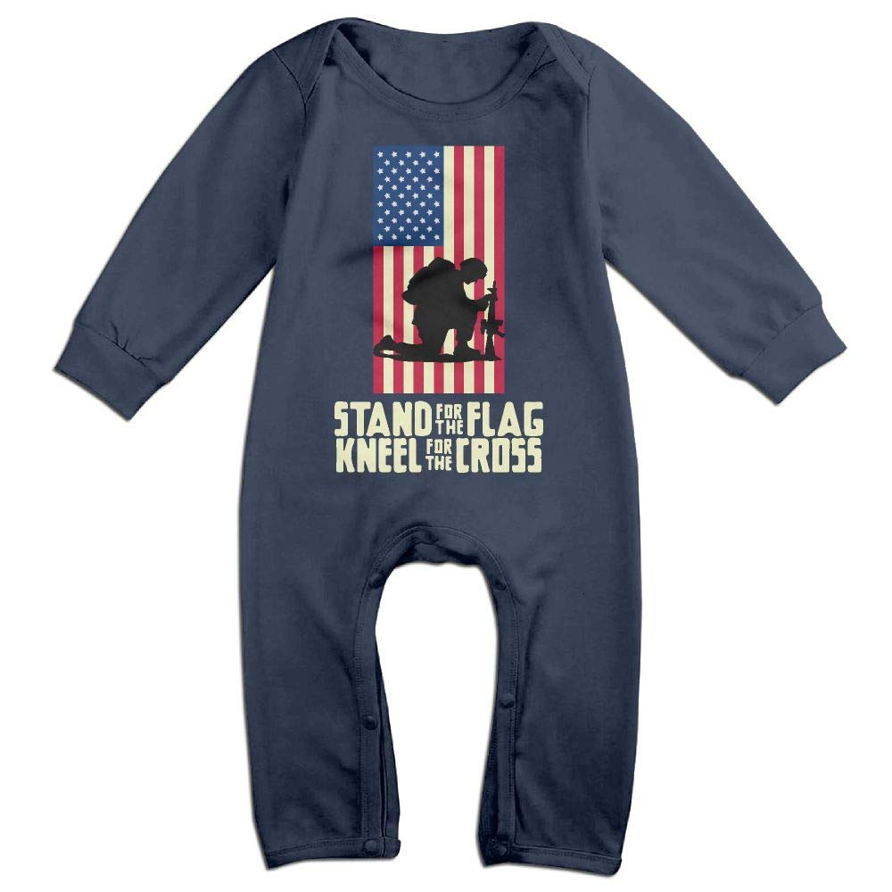 Mri-le1 Toddler Baby Boy Girl Long Sleeved Coveralls Stand for The Flag Toddler Jumpsuit