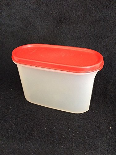 Vintage Tupperware #2 Modular Mates 4.75 cups Storage Container Canister with Red Lid