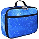 "Galaxy Lunch Box for Boys, Girls by Fenrici, Perfect for Primary, Secondary School Students, Soft Sided Compartments, Spacious, Insulated, Food Safe, 10"" W x 7.5"" H x 3"" D, Support A Great Cause"