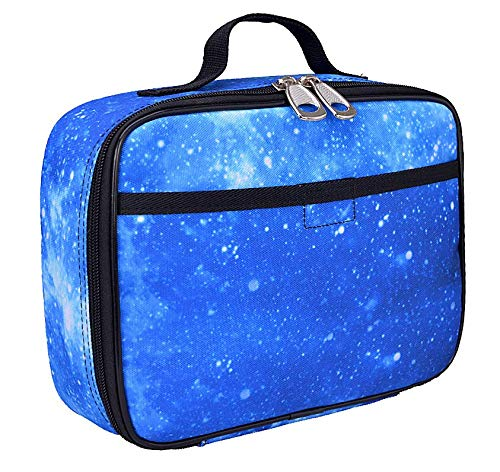 (Galaxy Lunch Box for Boys, Girls by Fenrici, Perfect for Kindergarten, Elementary School Students, Soft Sided Compartments, Spacious, Insulated, Food Safe, 10