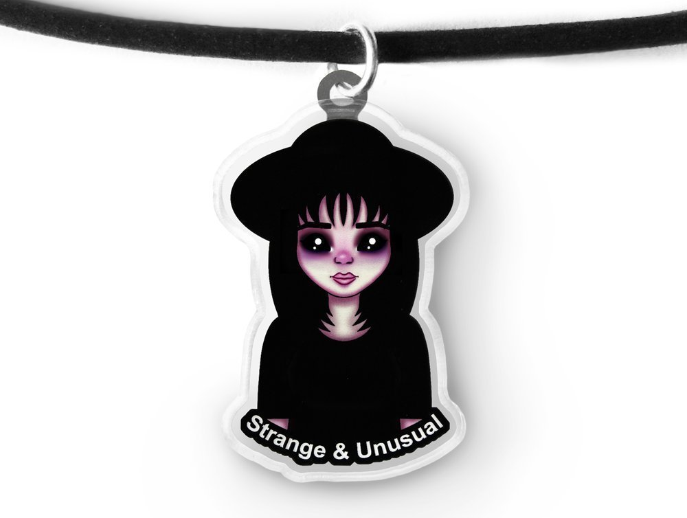 Strange Lydia Charm Choker - Pastel Goth Aesthetic Grunge Jewelry