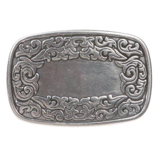 Engraving Western (Western Flower Engraving Oval Silver Belt Buckle Color: Silver)