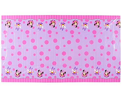 American Greetings Minnie Mouse Bowtique Plastic Table Cover, 54 in x 96 in, Party Supplies for $<!--$3.79-->