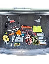 Kolo Sports Premium Kit de emergencia para automóvil de 156 piezas, paquete de emergencia multiusos, ideal para autos y primeros auxilios, la solución todo en uno