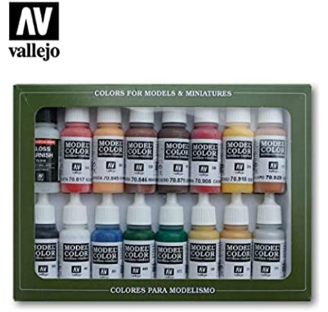 Paint Vallejo Model Color Revolución Americana Acrílico Set - Surtido de Colores (Pack de 16): Amazon.es: Oficina y papelería