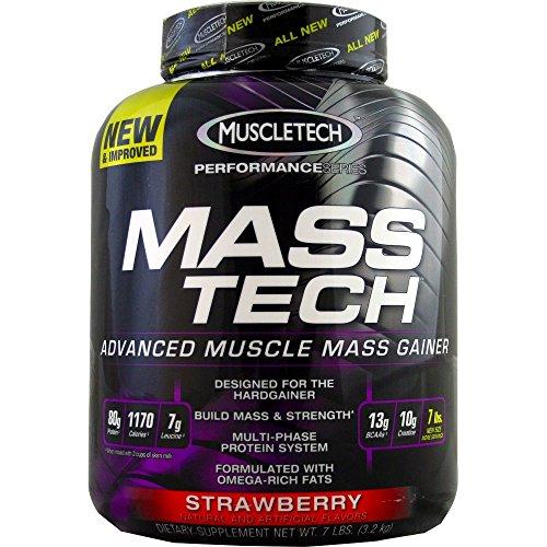 Muscletech Masstech Performance Supplement, Strawberry, 7 Pound ( Multi-Pack) by MuscleTech