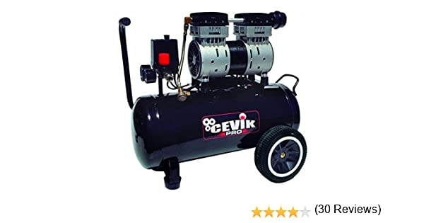Cevik CA-PRO24SILENT compresor Silencioso, Negro: Amazon.es ...