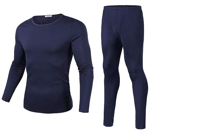 bbd141ff9451 Aibrou Conjunto Térmico de Ropa Interior para Hombre Manga Larga Pantalones  Largos Invierno Otoño para Running, Esquí, Montaña, Ciclismo, ...