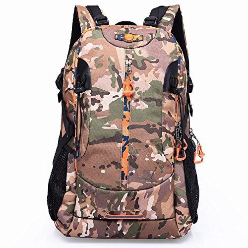 KAKA Backpack Outdoor Sports Travel Daypack College Gym Large Capacity Bags #2223 Camouflage