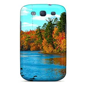 LJF phone case Bernardrmop Fashion Protective Colors Of Autumn Case Cover For Galaxy S3