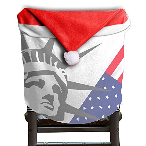 Christmas Seat Cover All Over 3D Printed Statue Of Liberty Flag Cute Christmas Decor 1PCS 50x60CM - Village Liberty Stores