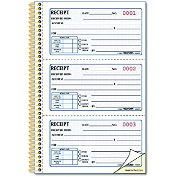amazon com adams money rent receipt book carbonless 3 part 2 3