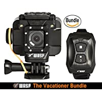 WASPcam 9905 WiFi Action-Sports Camera, Black (The Vacationer Bundle)