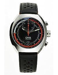 Oris Chronoris Automatic Stainless Steel Mens Strap Watch Black Dial 672-7564-4154