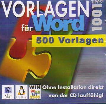 1001 Tipps 500 Vorlagen Für Word Amazon De Software