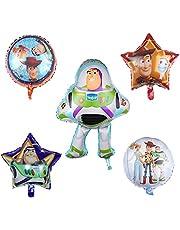 5 قطع من بالونات توي ستوري للحفلات من البالونات الفويل 80 سم للأطفال لحفلات استقبال المولود