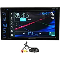Package: Pioneer AVH-280BT 6.2 2-Din DVD/CD/MP3 Car Audio Monitor/Receiver With Bluetooth + Rockville RBC1 Rear View Backup Car Camera