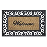 #2: Achim Home Furnishings WRM1830FL6 Fleur De Lis Wrought Iron Rubber Door Mat, 18 by 30