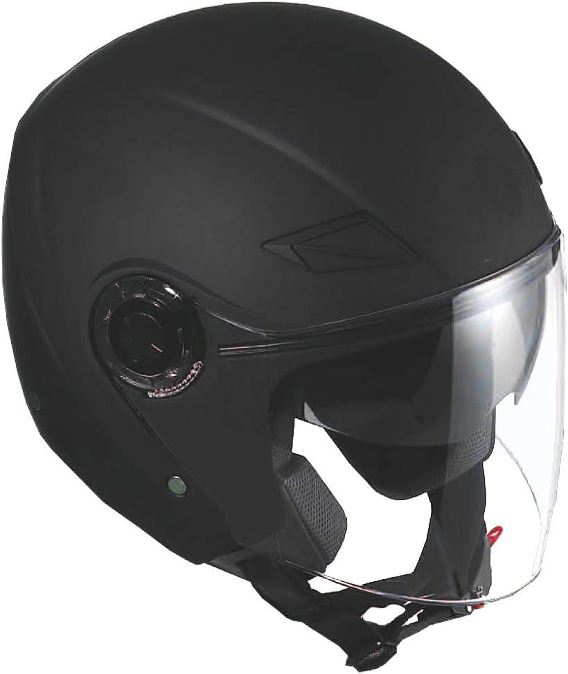 Jethelm Helm Motorradhelm Rollerhelm Mit Sonnenvisier Rallox 702b Matt Schwarz S M L Xl L Elektronik