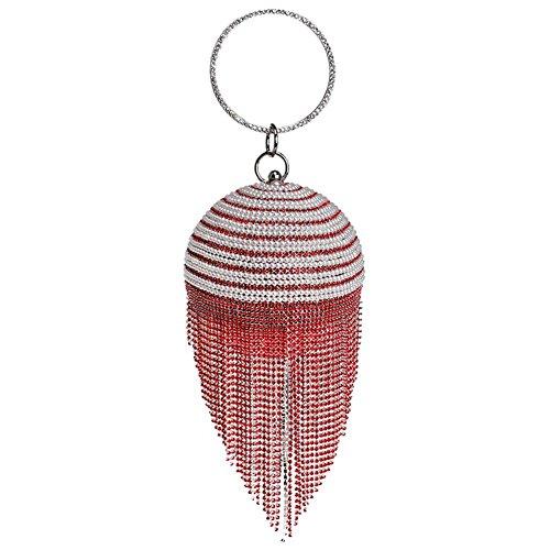 de boule aux main 5 12 36 cristaux forme 9 fête femmes sacs x mariage soirée cm sac banquet red x perle glands de strass à aIrIzwq
