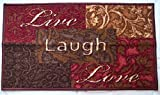 Mainstays Live, Laugh, Love Low Profile Accent Rug, Skid Resistant, 17.3'' x 30.3''