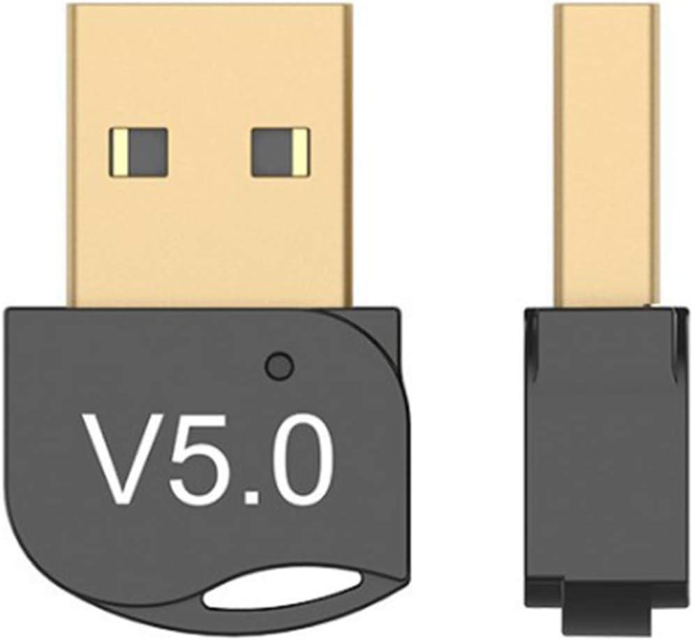 Adaptador Bluetooth 5.0 USB Bluetooth USB PC Adaptador Bluetooth Bluetooth USB Dongle Transmisor y Receptor para TV/Auricular/Altavoz/Ratón/Teclado para Windows10/8/8.1/7/XP/Vista Plug y Play