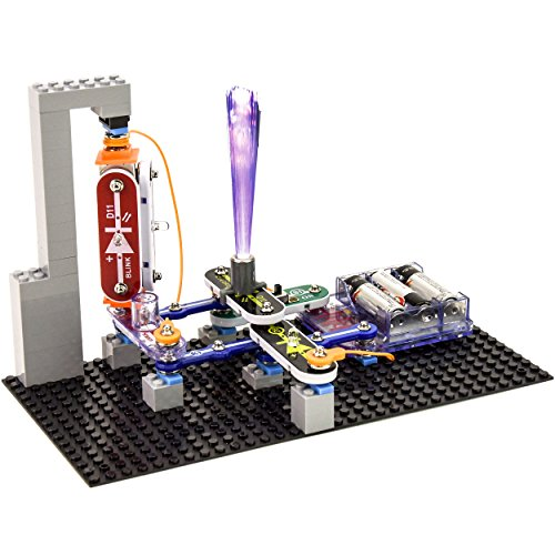 51JdKcPRieL - Snap Circuits BRIC: Structures ~ Brick and Electronics Exploration Kit | Over 20 STEM & Brick Projects | 4-Color Idea Book | 20 Snap Modules | 75 BRIC-2-SNAP Adapters | 140+ BRICs