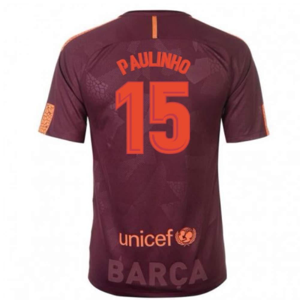 2017-18 Barcelona Nike Third Football Soccer T-Shirt Trikot (Paulinho 15)