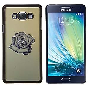 EJOOY---Cubierta de la caja de protección para la piel dura ** Samsung Galaxy A7 A7000 ** --Rose Tattoo roca rodillo de tinta aman amarilla