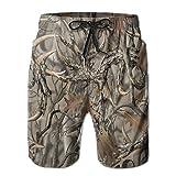 STCXINTUKU608 New Realtree Camo Men's Beach Shorts with Pockets Quick Dry Summer Shorts Swim Trunks