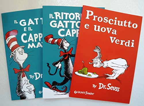 Green Cappello - Set of 3 Dr. Seuss Books in Italian (Gatto e il Cappello Matto, Ritorno, Prosciutto e Uova Verdi) (The Cat in the Hat, The Cat in The Hat Comes Back, Green Eggs and Ham) Italian Edition