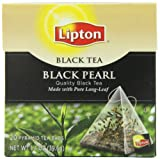 Lipton Black Tea, Black Pearl Pure Long Leaf 20ct, 1.4 OZ (Pack of 6)