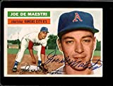 1956 TOPPS #161 JOE DEMAESTRI (AUTO) VG+ LITE CREASES *0069