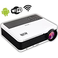 EUG New X88+ Android Bulit-in Wireless WiFi Full HD LED 3D Ready Projector 3600 Lumens Resolution Support 1080P Home Cinema Projector With USB ,HDMI,VGA-In, AV, S-Video For Home Business Office School Hospital