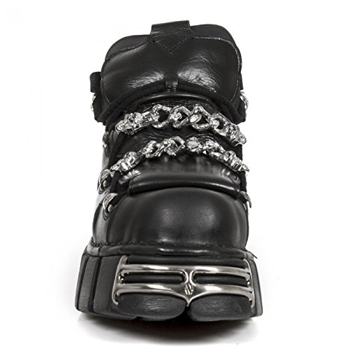 Nuovi Stivali Di Roccia M.616-s1 Gotico Hardrock Punk Stiefelette Unisex Schwarz