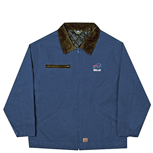 - NFL Buffalo Bills Tradesman Canvas Quilt Lined Jacket, Navy, XX-Large