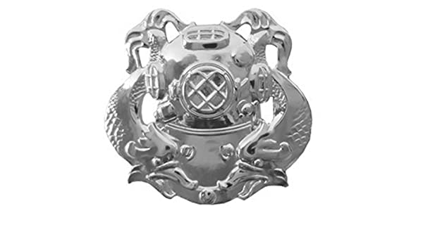 Diver Second Class Badge Mirror Finish US Army Regulation Size