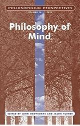 Philosophy of Mind, Volume 26