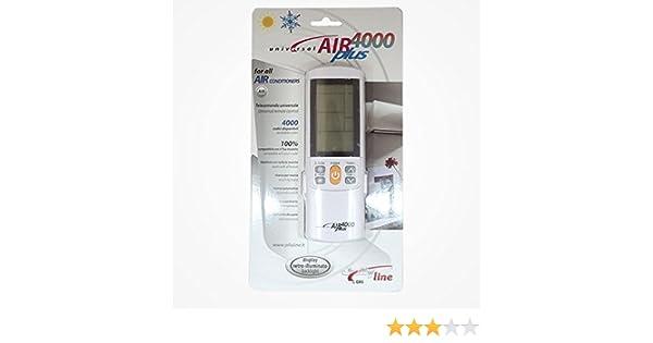 Air Plus. Mando a distancia Universal para aire acondicionado. 4000 codigos: Amazon.es: Electrónica